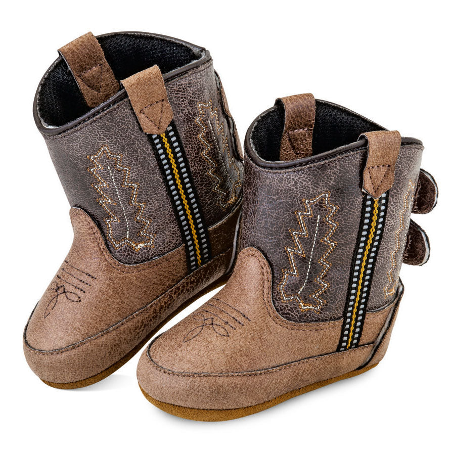 Old West Poppets Vintage Tan & Brown Baby Boots