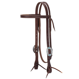 Weaver Working Tack Feather Hardware Browband Headstall