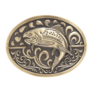 AndWest Brass Oval Fish Buckle
