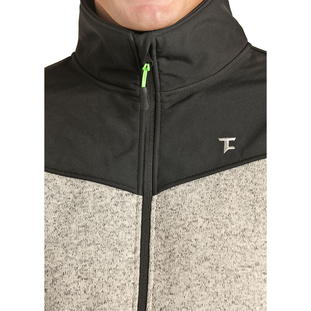 Tuf Cooper Performance Fleece Mens Grey Jacket
