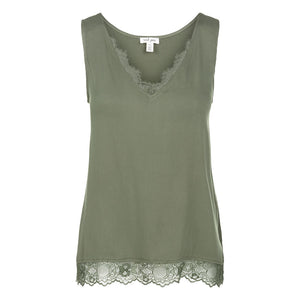Tribal Sateen Lace Trim Green Womens Cami