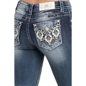 Miss Me Forbidden Aztec with Leather Jean
