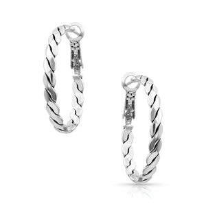 Montana Silversmiths Flat Rope Hoop Earrings