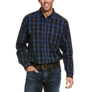 Ariat Pro Series Upman Blue Plaid Mens Shirt