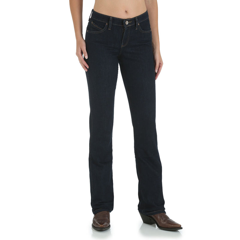 Wrangler Women's Ultimate Riding Q-Baby Mid Rise Jeans