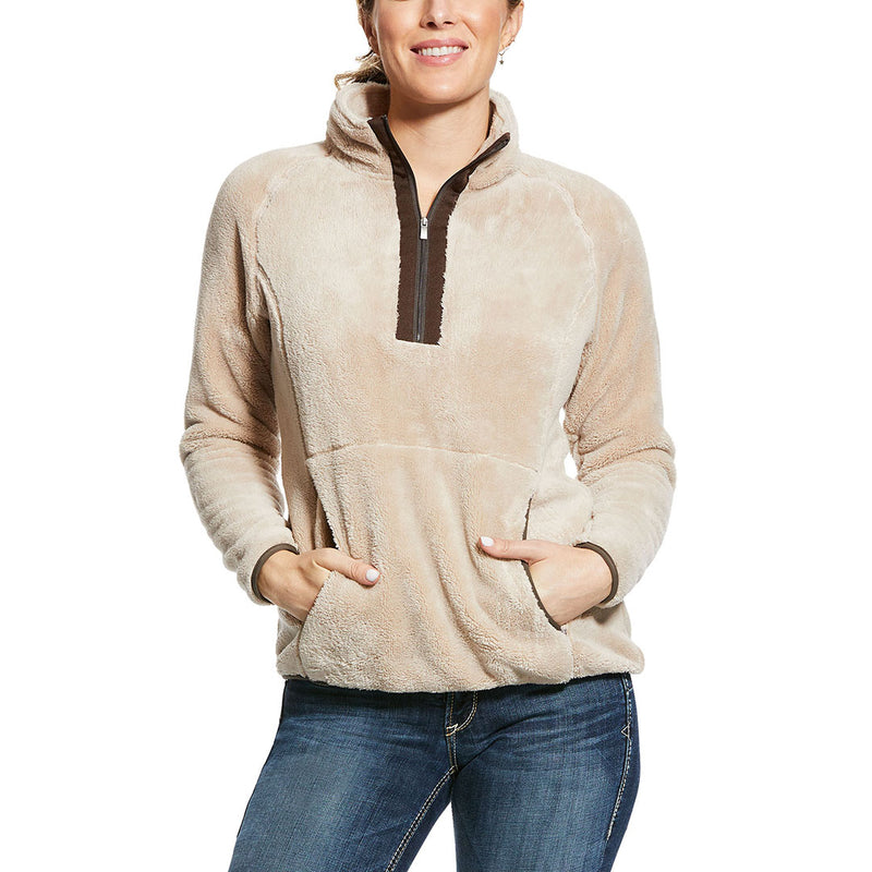 Ariat Dulcet Half Zip Beige Womens Sweatshirt