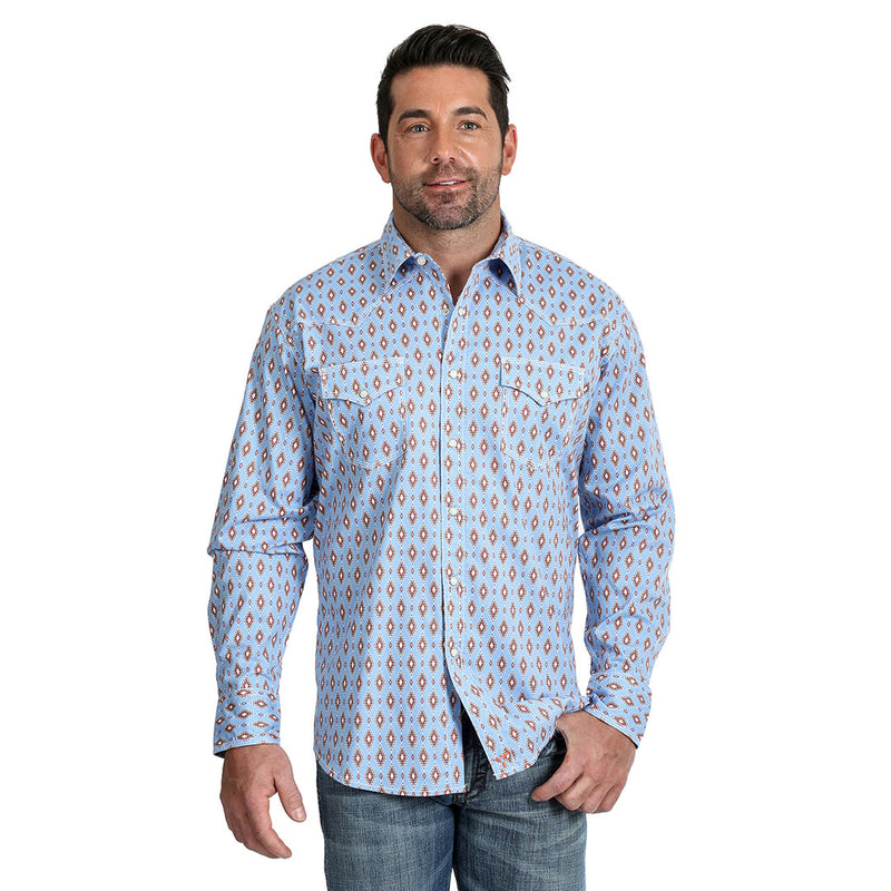 Wrangler Men's 20X A/C Aztec Diamond Print Shirt