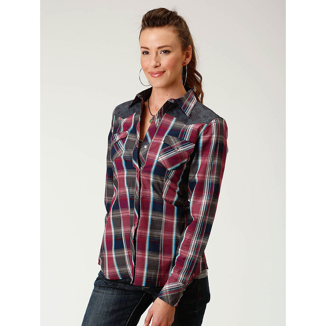 Roper Red & Black Plaid Shirt