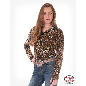 Cowgirl Tuff Women's Leopard Jersey Pullover Top