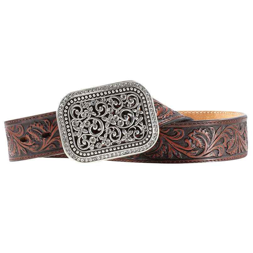 Ariat Rhinestone Filigree Brown Belt