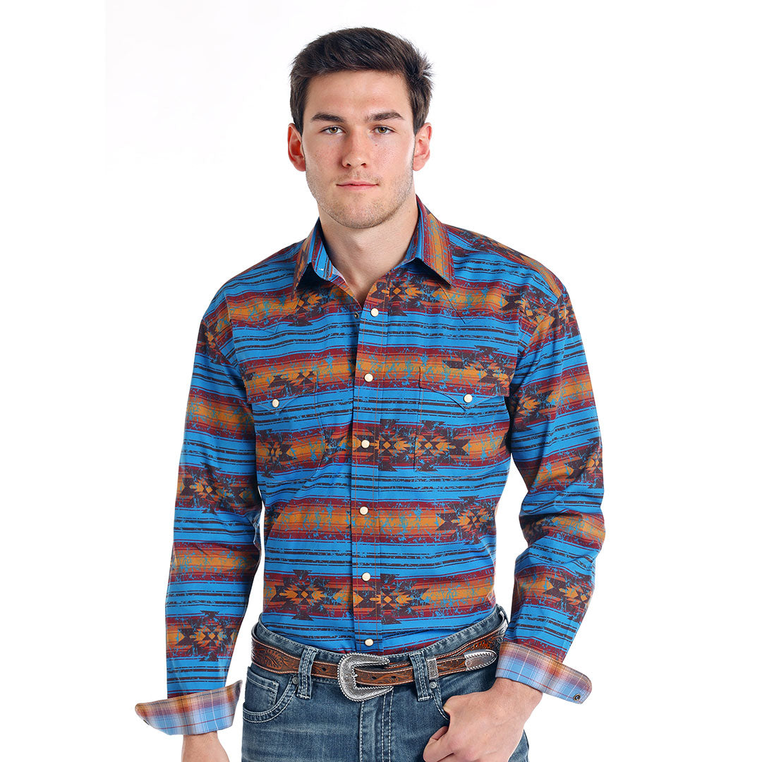 Rough Stock Wasatch Aztec Print Shirt