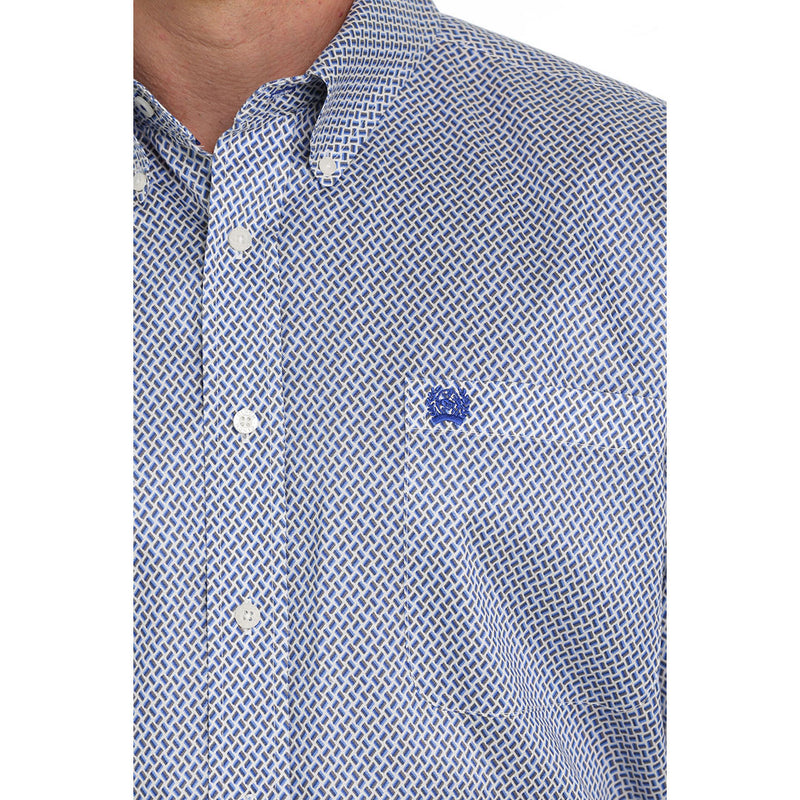 Cinch Men's Tencel Geometric Print Classic Fit Shirt