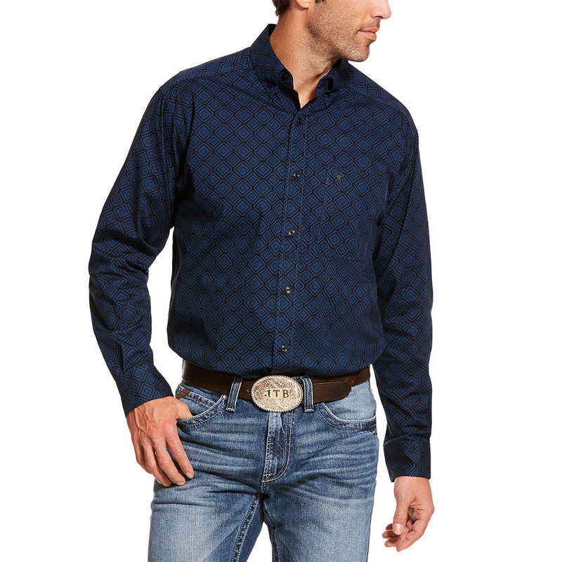 Ariat Darbro Stretch Classic Black & Blue Mens Shirt