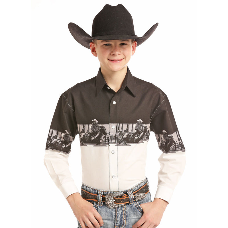 Panhandle Rodeo Border Print Shirt