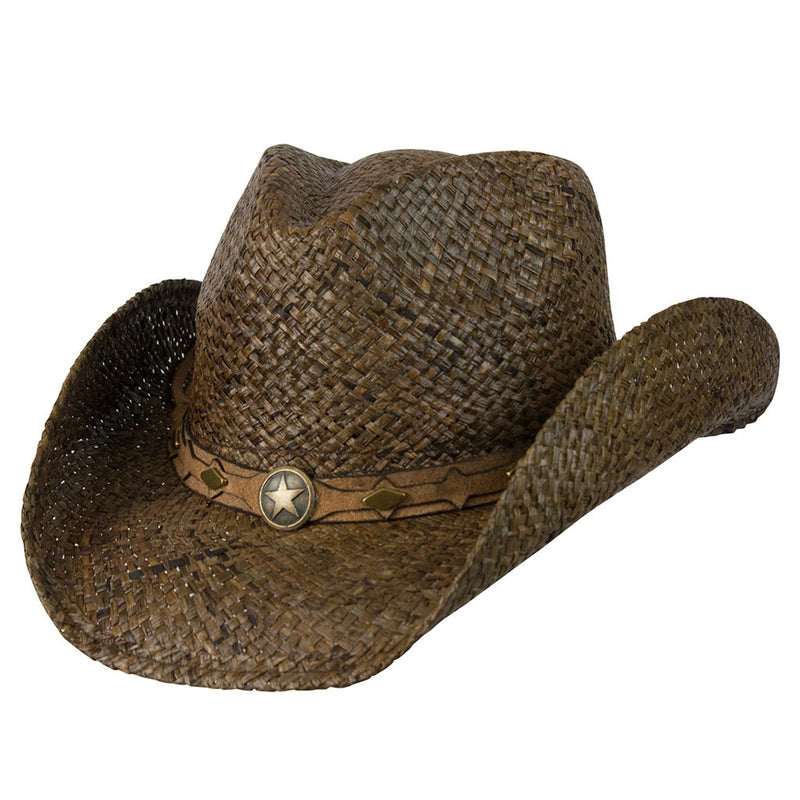 Conner Hats Country Western Brown Raffia Shapeable Hat