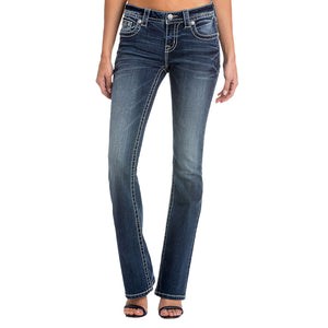 Miss Me MM Moves Mid-Rise Boot Cut Jean