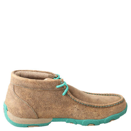 Twisted X Turquoise Bomber Womens Driving Moccasin Shoe