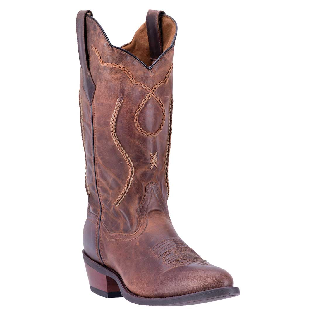 Laredo Luke Distressed Brown Cowboy Boots