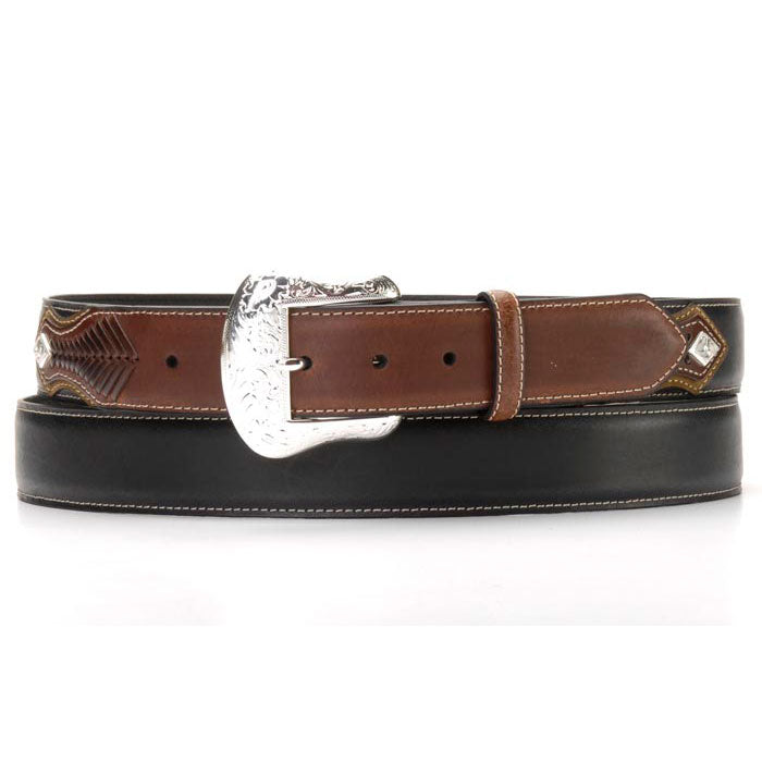 Nocona Top Hand Men's Black & Brown Belt