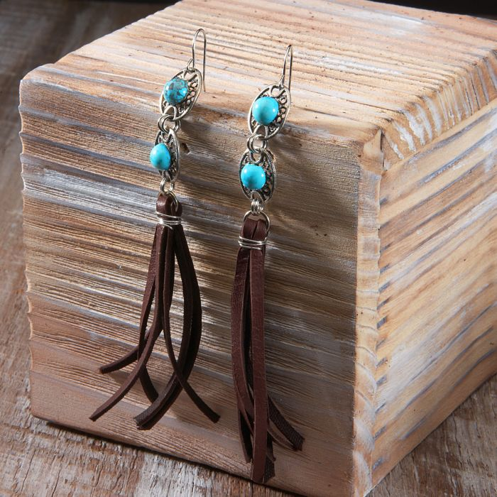 Cowgirl Confetti Women's Trail Ride Tassel Earrings