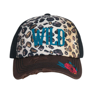 Catchfly Wild Cheetah Print Womens Cap