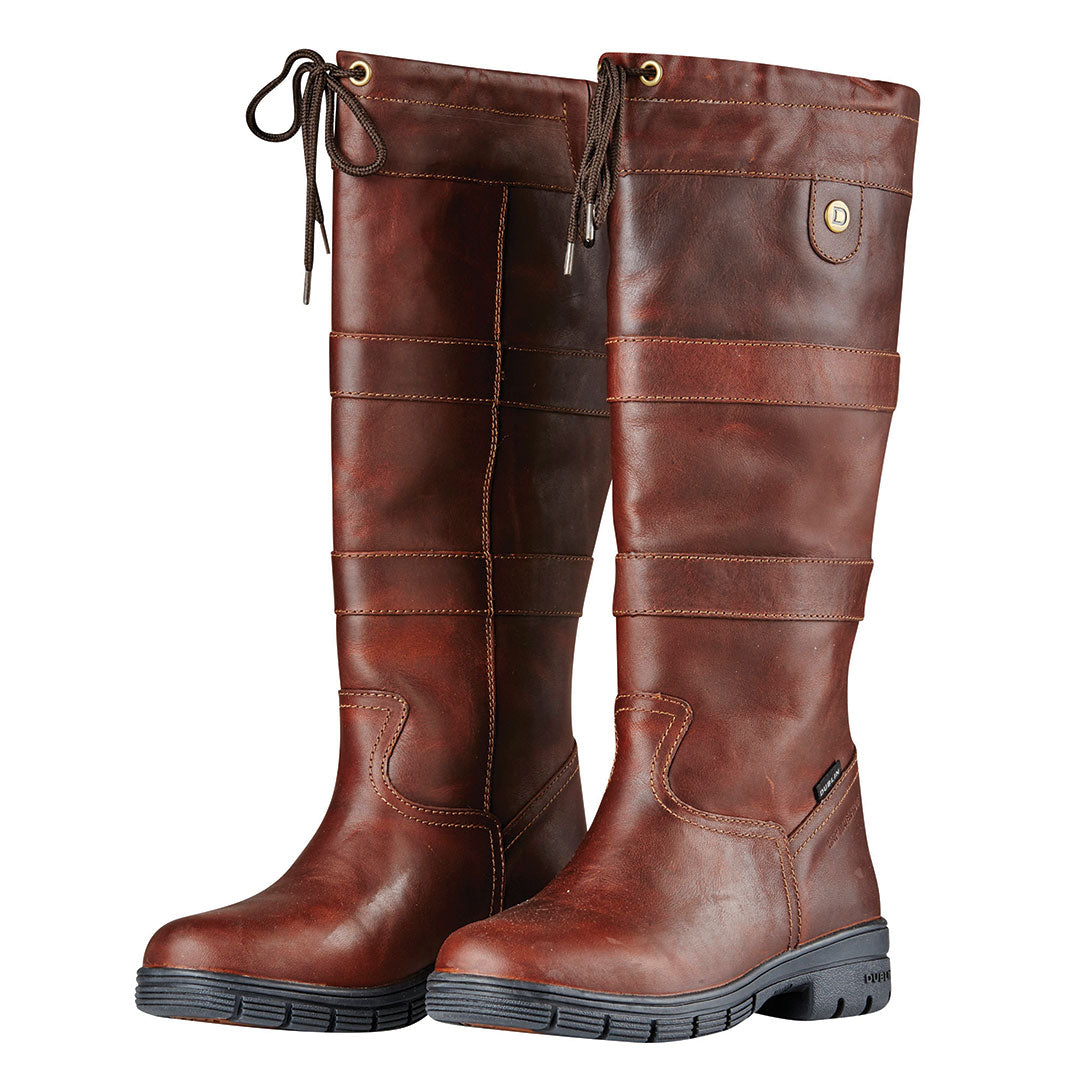 Dublin River Grained Brown Boots