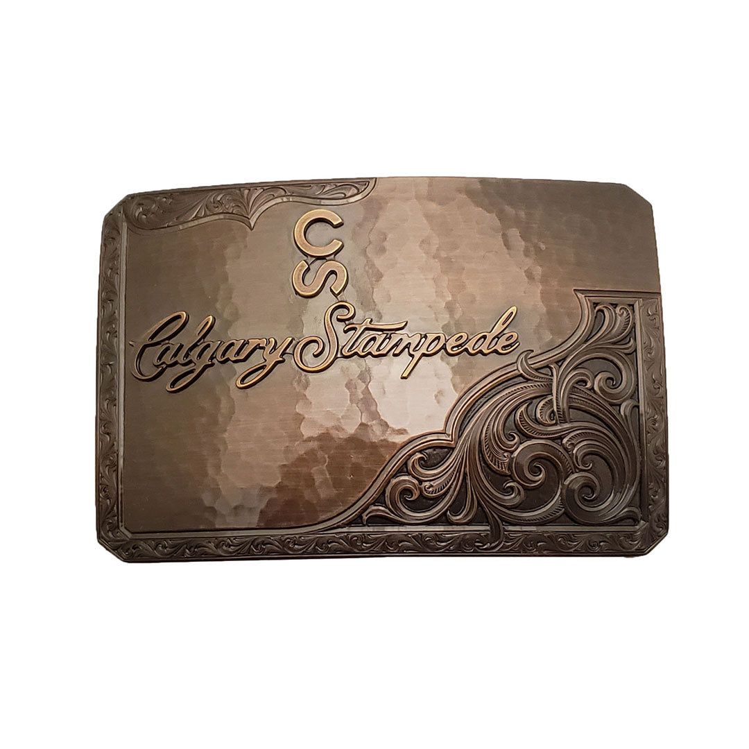 Montana Silversmiths Vintage Bronze Calgary Stampede Logo Buckle