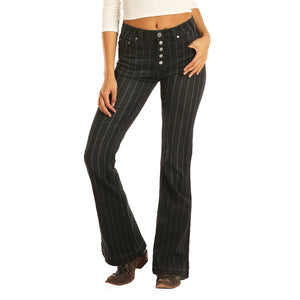 Rock & Roll Denim High Rise Flare Extra Stretch Womens Jean