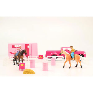 Bigtime Rodeo Pink Truck & Trailer Playset