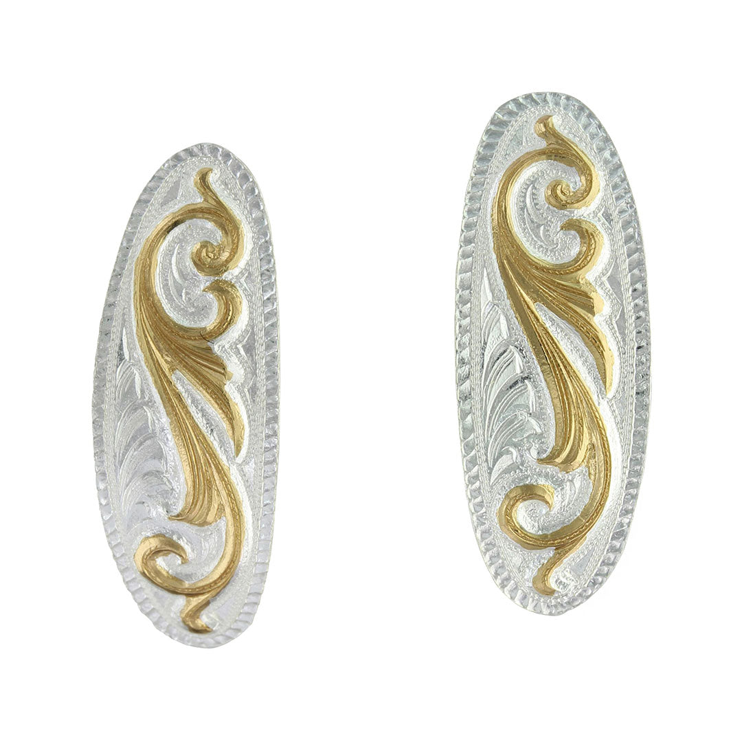 Montana Silversmiths Small Scroll Design Cuff Earrings