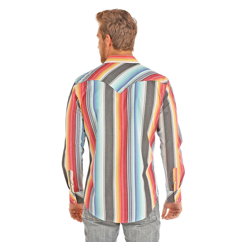 Rock & Roll Cowboy Serape Stripe Shirt