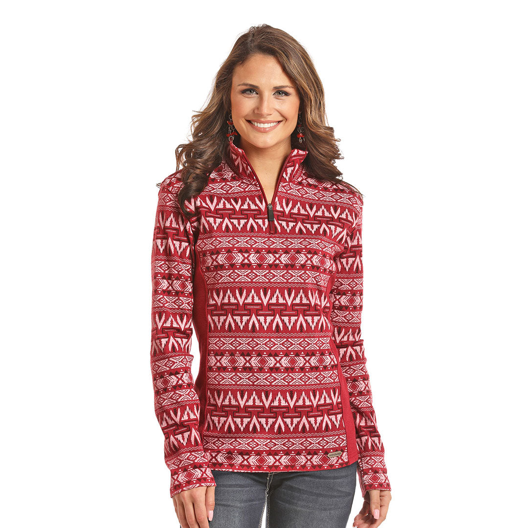 Powder River Outfitters Two-Tone Aztec Pullover Jacket
