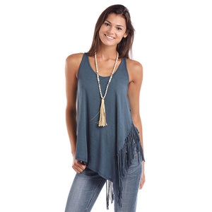 Panhandle Blue Side Fringe Tank