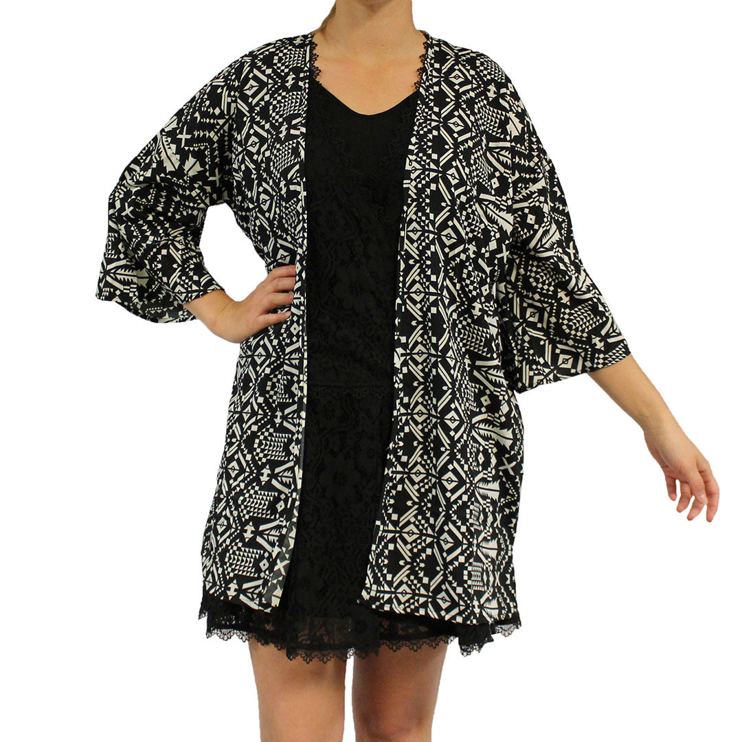 Cowgirl Collection Navy Print Kimono