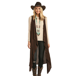 Rock & Roll Cowgirl Cascade Womens Brown Vest