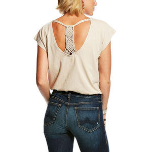Ariat Tahos Steer Head Graphic Tan Top
