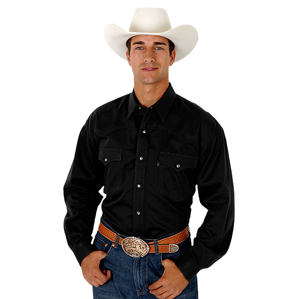 Roper Solid Black Western Shirt