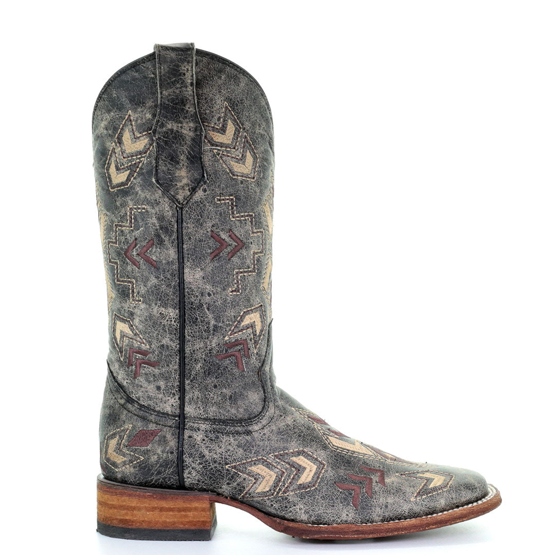 Circle G Distressed Aztec Embroidered Cowgirl Boots