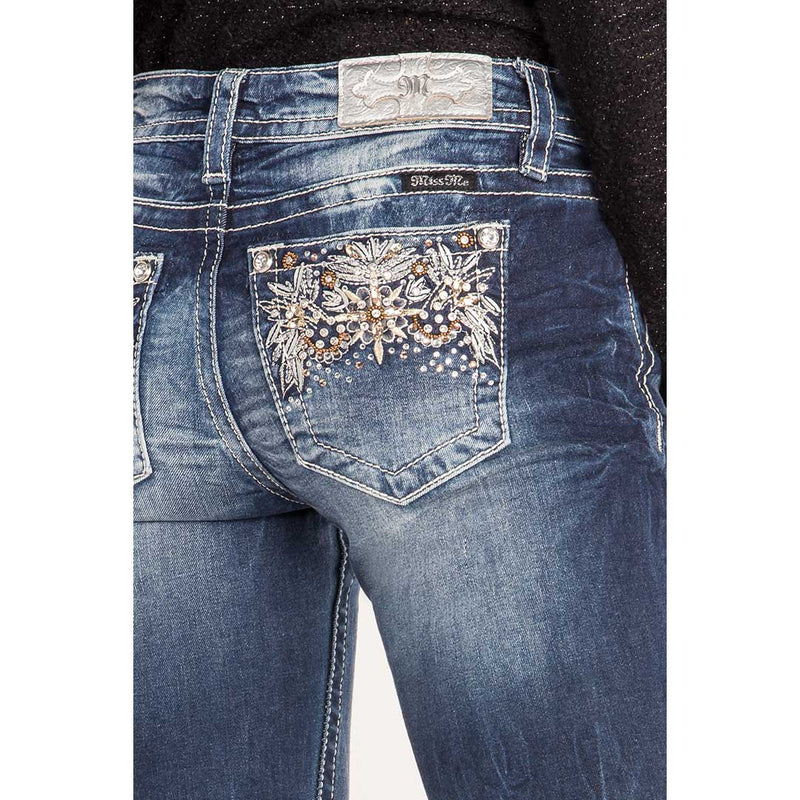 Miss Me Floral Harmony Boot Cut Jeans