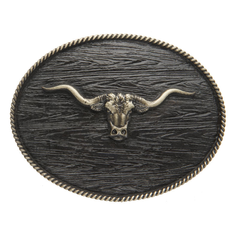 AndWest Iconic Steer Head Oval Buckle