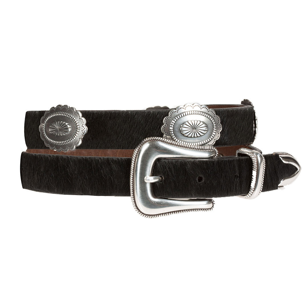 Wrangler Hide Hair & Conchos Black Belt
