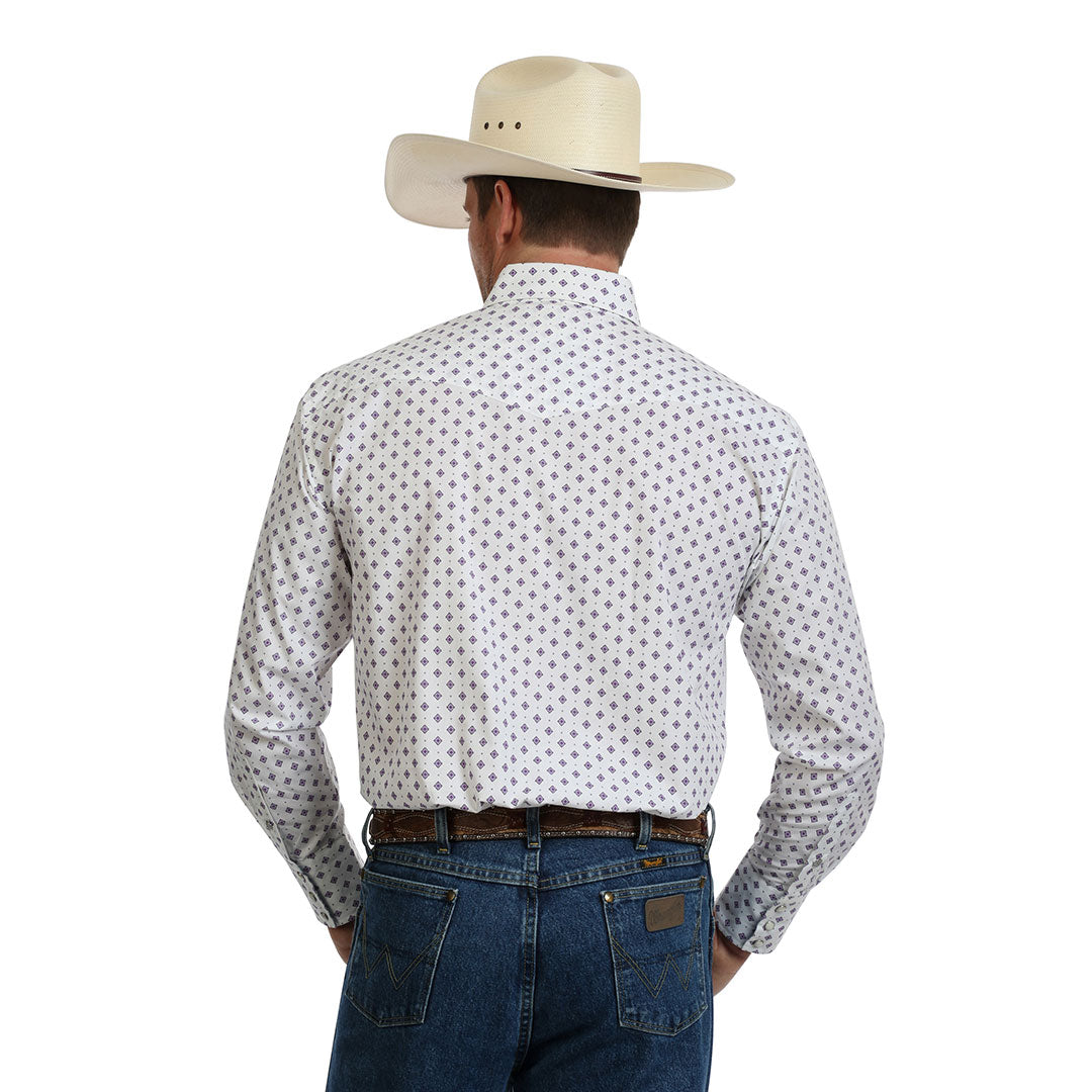 George Strait Troubadour Diamond Print Shirt