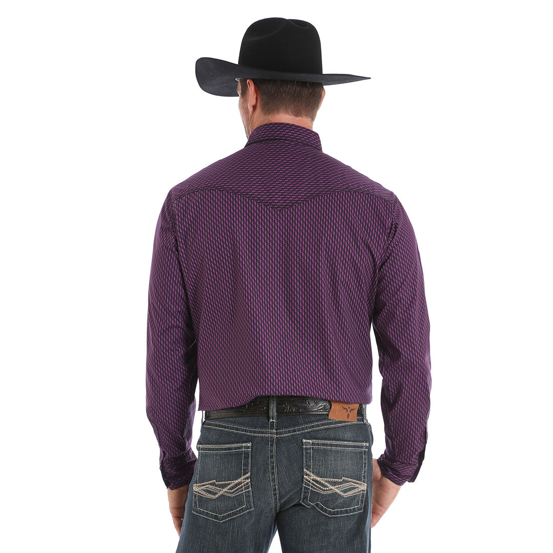 Wrangler® 20X®  Advanced Comfort Purple & Black Print Shirt
