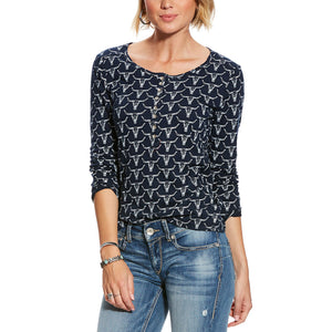 Ariat  R.E.A.L.™ Steer Skull Henley Top