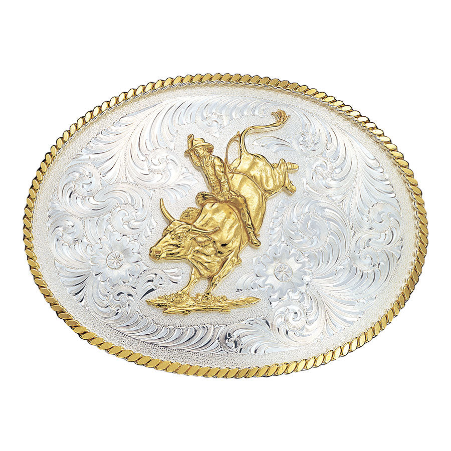 Montana Silversmiths Two-Tone Bull Buckle