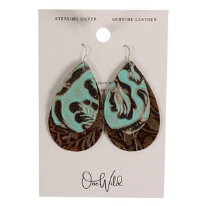 One Wild Double Drop Large Leather Earrings
