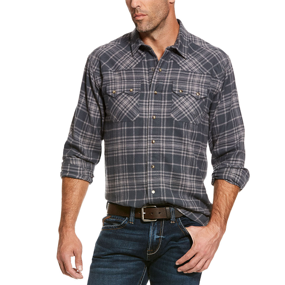 Ariat Karlsen Retro Charcoal Plaid Men's Shirt