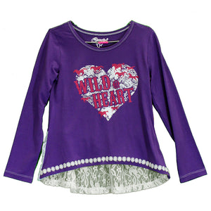Cowgirl Hardware Lace Hem Girl's Shirt