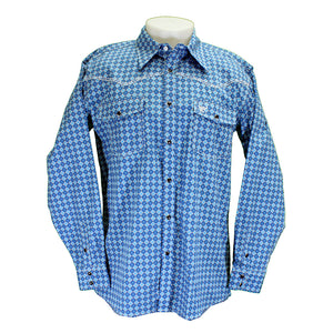 Cowboy Hardware Blue Circle Print Shirt