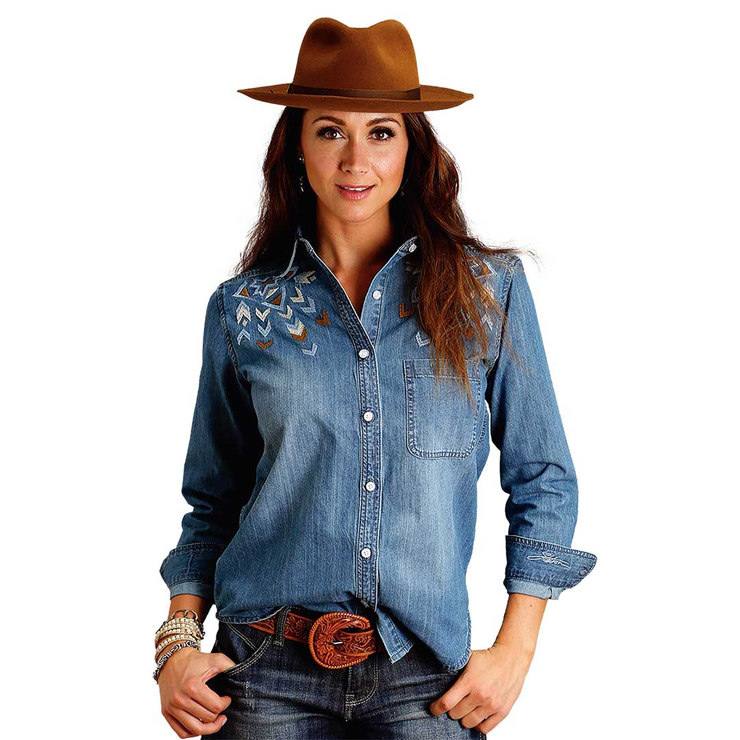Stetson Embroidered Denim Shirt